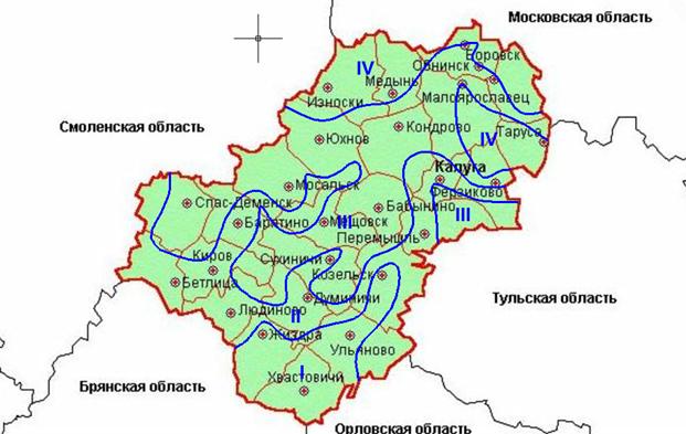 Карта залегания водоносных горизонтов в калужской области